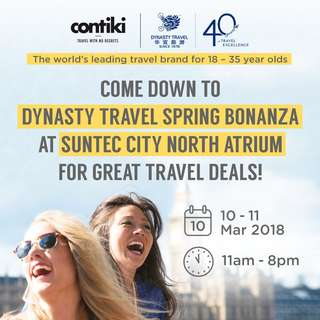 Come down to the Spring Bonanza at Suntec City North Atrium for great travel deals!