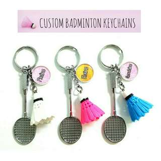Customized Badminton Keychains