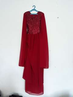 REPRICED Long Gown w/Slit