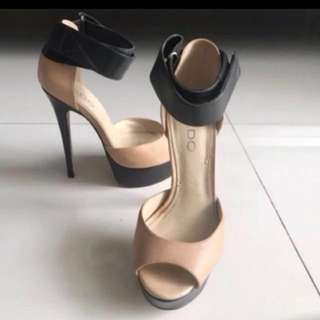 Aldo Cream Black High Heels