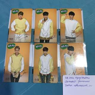 EXO Korea Endorse Sunny10 Official Photocard Set