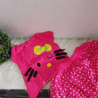 2nd Setelan bayi HELLO KITTY PINK