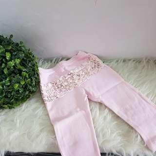 JUAL RUGI NEW Celana bayi pink renda