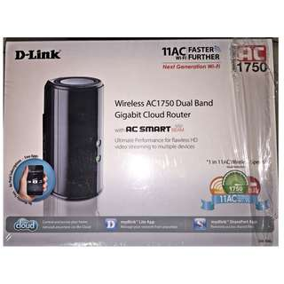 Dlink AC 1750 DIR-868L Wireless Dual Band Gigabit Cloud Router (Unused)