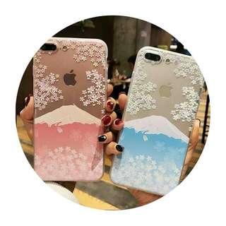 預購🗻 櫻花 x 富士山 手機殼(Pink/Blue)