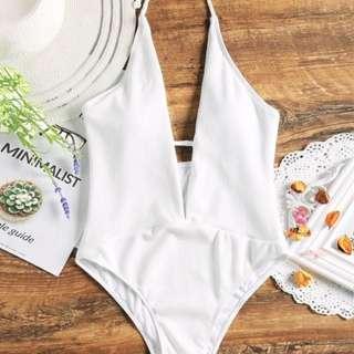 ZAFUL size S (8) white one piece swimsuit