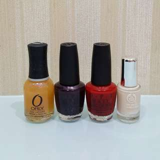 Orly, Opi, The Body Shop Nail Polish (take all)