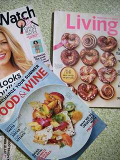 Imported Culinary and Wellness magazines