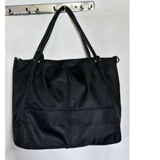 黑色女袋大尺寸2用tote bag