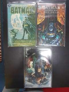 3 DC comics Batman