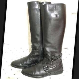 🚚 Tod's豆豆鞋 真皮馬靴/靴子36.5號 原價近三萬