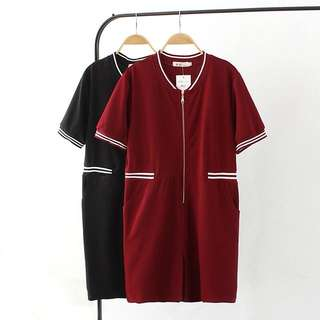 (XL~3XL) 2018 summer women's casual sports wind baseball uniform dress short-sleeved shirt