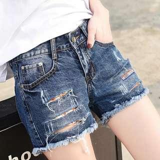 韓款牛仔短褲