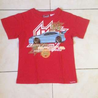 Hotwheels red shirt