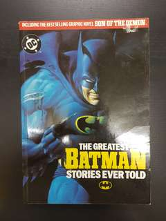DC Comics THE GREATEST BATMAN STORIES EVER TOLD 350 pages