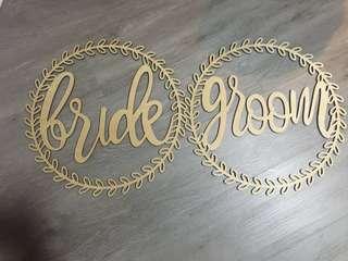 Bride & Groom Signages