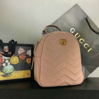 Gucci Backpack GG Marmont Pink Color