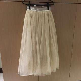 米白色紗裙
