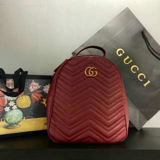Gucci Backpack GG Marmont Maroon Color