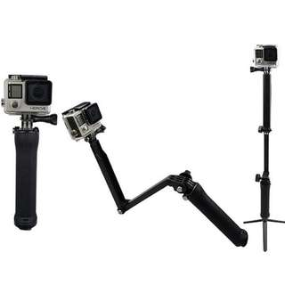 自拍棍  三折棍 可用 (Action camera selfie stick) gopro hero sessionr Gopro go pro hero5/4/3