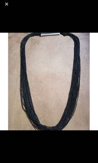 Multiple strand glossy beads necklace costume