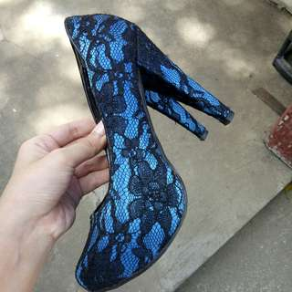 Cavalino - Royal Blue Laced Heels