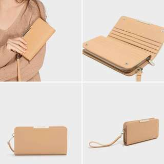Dompet Charles And Keith Wallet Original Nude Beige
