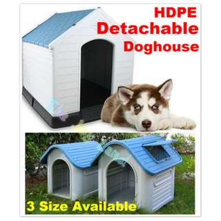 HDPE Detachable Doghouse /3 sizes/Green Colour