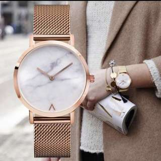 MARBLE ROSEGOLD WATCH NEW
