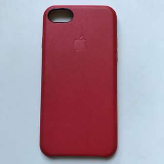 Red leather case for iPhone 7 8