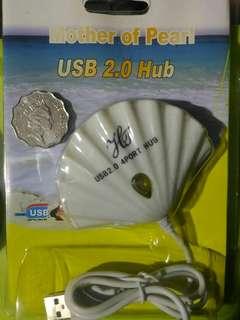 4 ports USB HUB 貝殼形