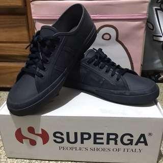 🚚 Superga 雨鞋 帆布鞋 橡膠鞋 深藍色