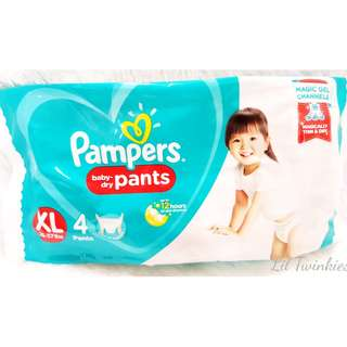 Pampers Baby Dry Pants Travel Pack (X-Large) 4's