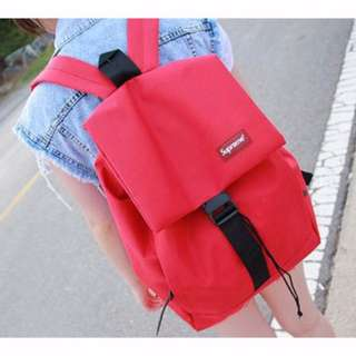 [INSTOCKS] Unisex Ladies Men Red Backpack