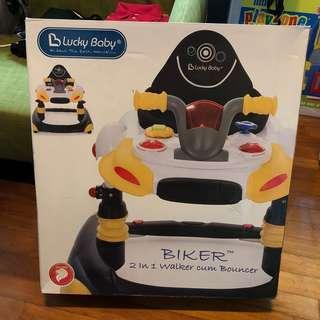 Lucky Baby Biker™2 In 1 Walker Cum Bouncer