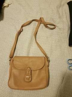 Tan shoulder bag strap bag purse wallet tote