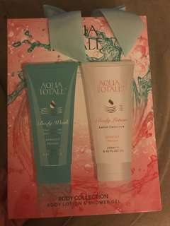 Aqua Totale Lotion and Body Wash Set