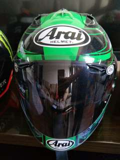 Arai and HJC helmet