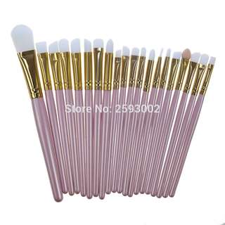 Rose Gold 20 piece Makeup brush set