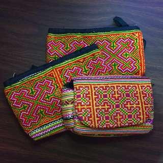Thai/Viet pattern pouch & bag