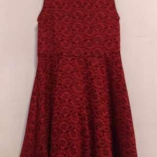 🚚 紅色背心洋裝