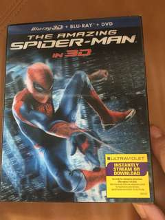 The amazing Spider-man in 3D, blu-ray 3D + blu-ray + DVD