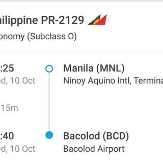 MNL TO BACOLOD One way ticket for 2