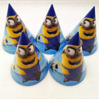🌈 Minions Party Supplies - minions party hats