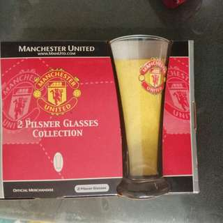 Manchester  United pilsner glasses collection