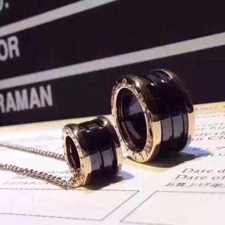 寶格麗陶瓷項鍊戒指