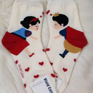Korean Socks- Snow white and Prince