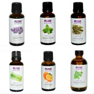 Essential Oil NOW aroma therapy eucalyptus lavender citronella peppermint spearmint cedarwood difuser air dehumidifier oils pure 100% EO not essence