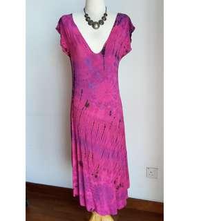Long Colorful Print Dress