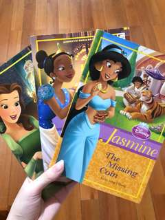 Disney princess books: jasmine, tiana and belle